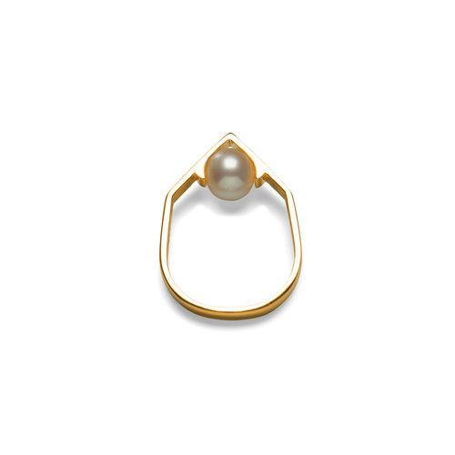 IRIS RING w pearl, gold