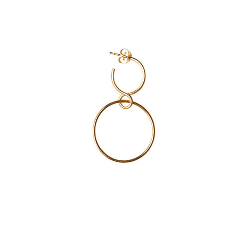 LILY HOOP SMALL, gold