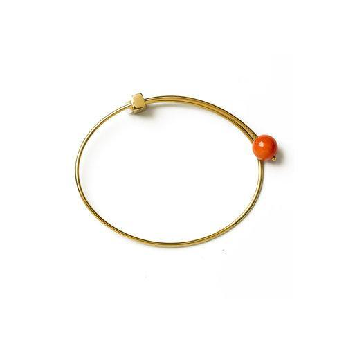 LANA BANGLE w Coral, gold