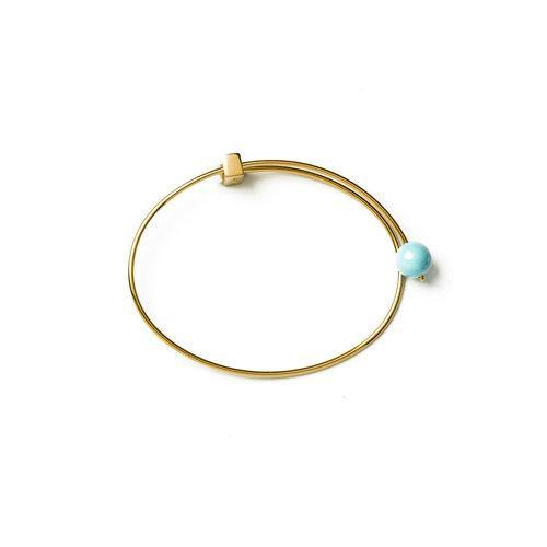LANA BANGLE w Turquoise, gold