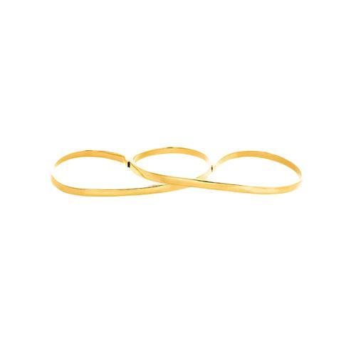LILY 3 FINGER RING, gold