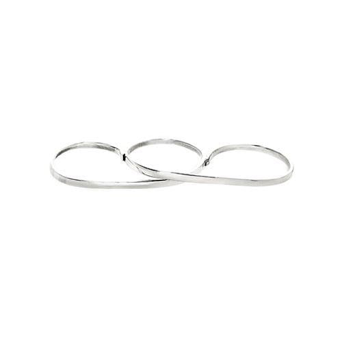 LILY 3 FINGER RING, silver