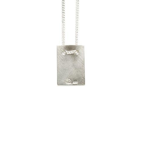 MAN NECKLACE w tag, matte silver