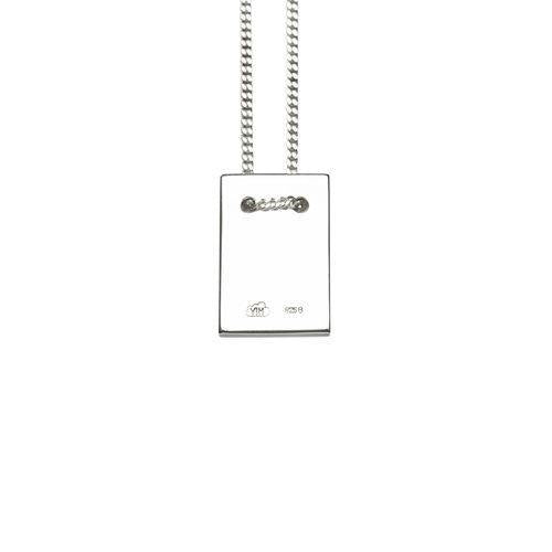 MAN NECKLACE w tag, shiny silver