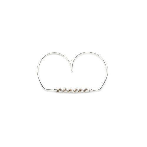 ELSA 2 FINGER RING, silver