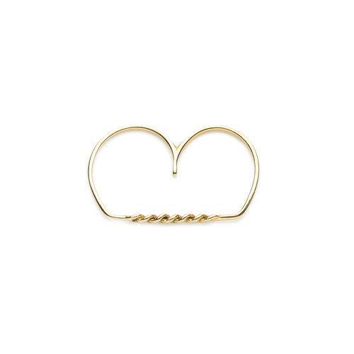 ELSA 2 FINGER RING, gold
