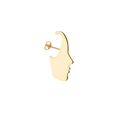SARA FACE EARRING, gold