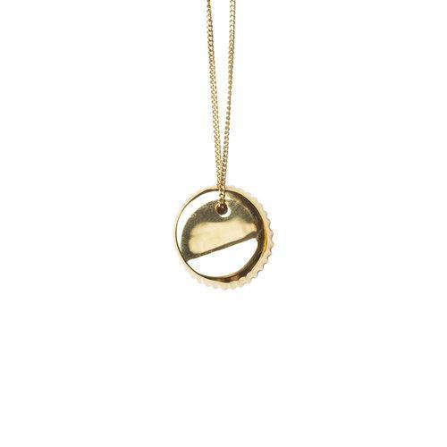 BOTTLE CAP NECKLACE, gold