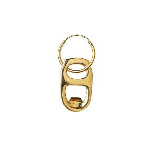 BEER CAP OPENER EARRING, Goldplated
