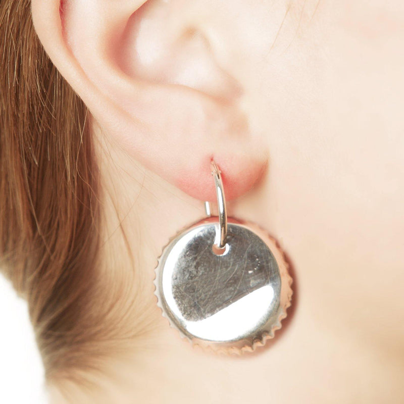 BOTTLE CAP EARRING
