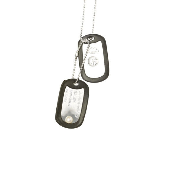 VH x AA double dog tag necklace