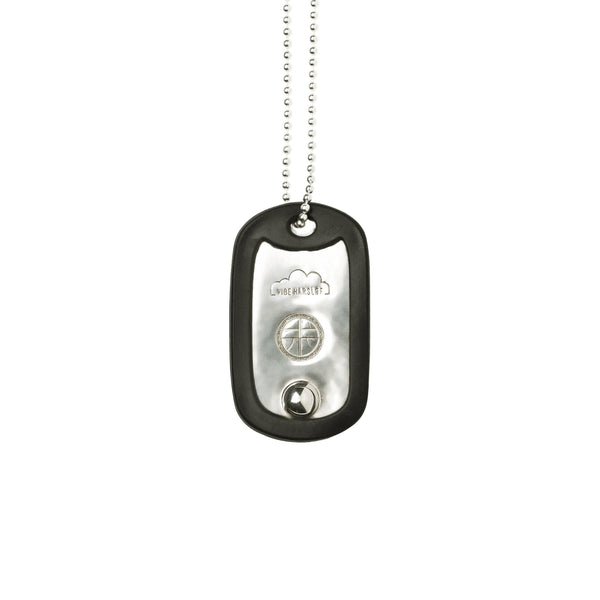 VH x AA single dog tag necklace with pearl