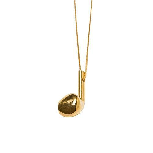 WE necklace w earphone, Gold