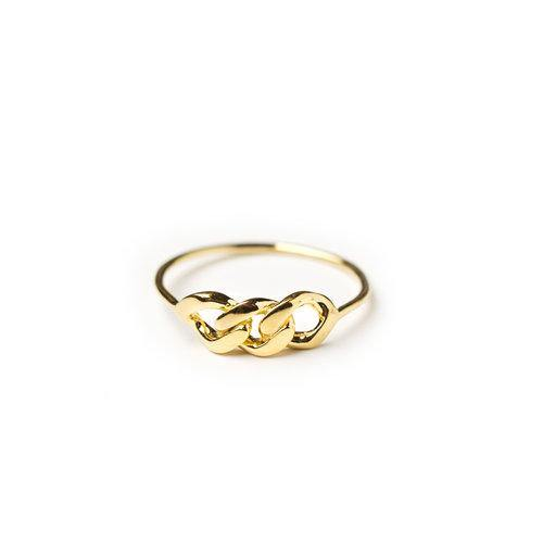 WS CHAINPART RING, large gold
