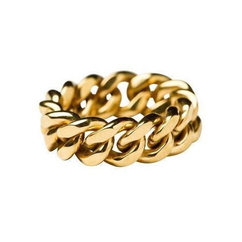 ELSA CHAIN RING MEDIUM, Goldplated