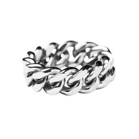 ELSA CHAIN RING MEDIUM, Silver