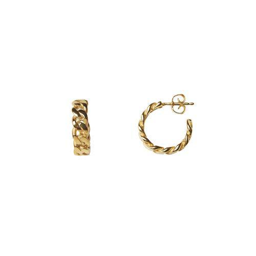 ELSA CHAIN HOOP SMALL, gold