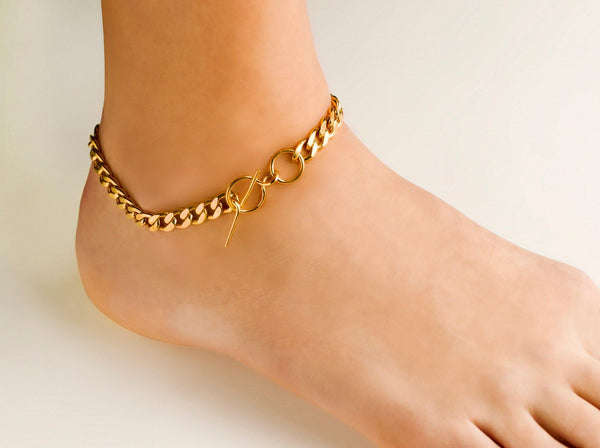 Elsa anklet Fat Chain - Vibe Harsløf Jewelry