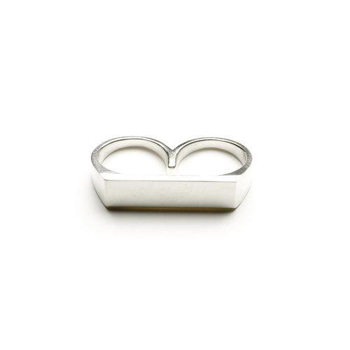MAN RING 2 FINGERS, matte
