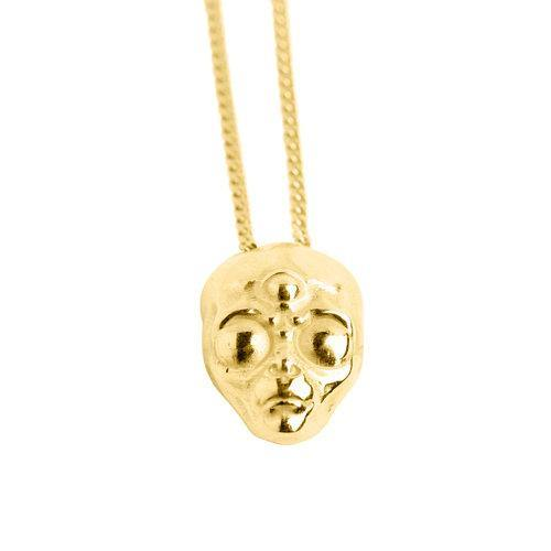 ALIEN NECKLACE, gold