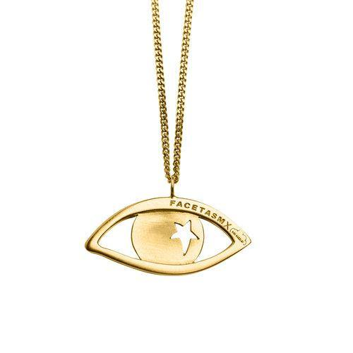 EYE PENDANT NECKLACE, gold
