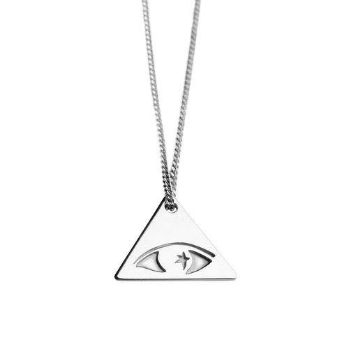 ILLUMINATI NECKLACE, silver