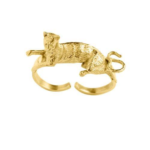 CAT RING, Goldplated