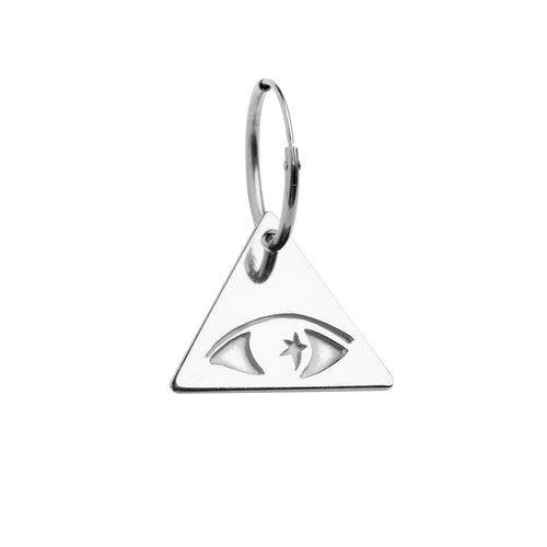 ILLUMINATI EYE EARRING, silver