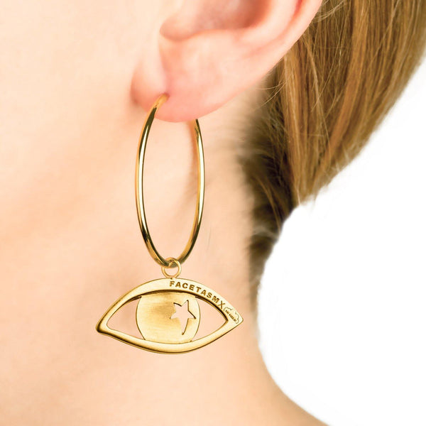EYE PENDANT EARRING BIG