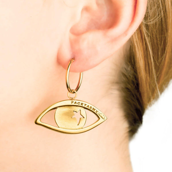 EYE PENDANT EARRING SMALL