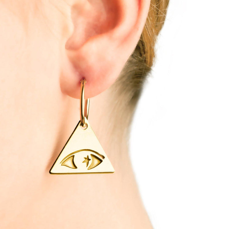 ILLUMINATI EYE EARRING