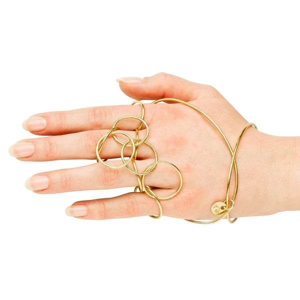 DOUBLE BANGLE w 10 RINGS