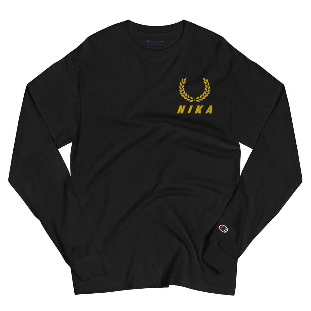 NYC NIKA Embroidered Champion Long Sleeve