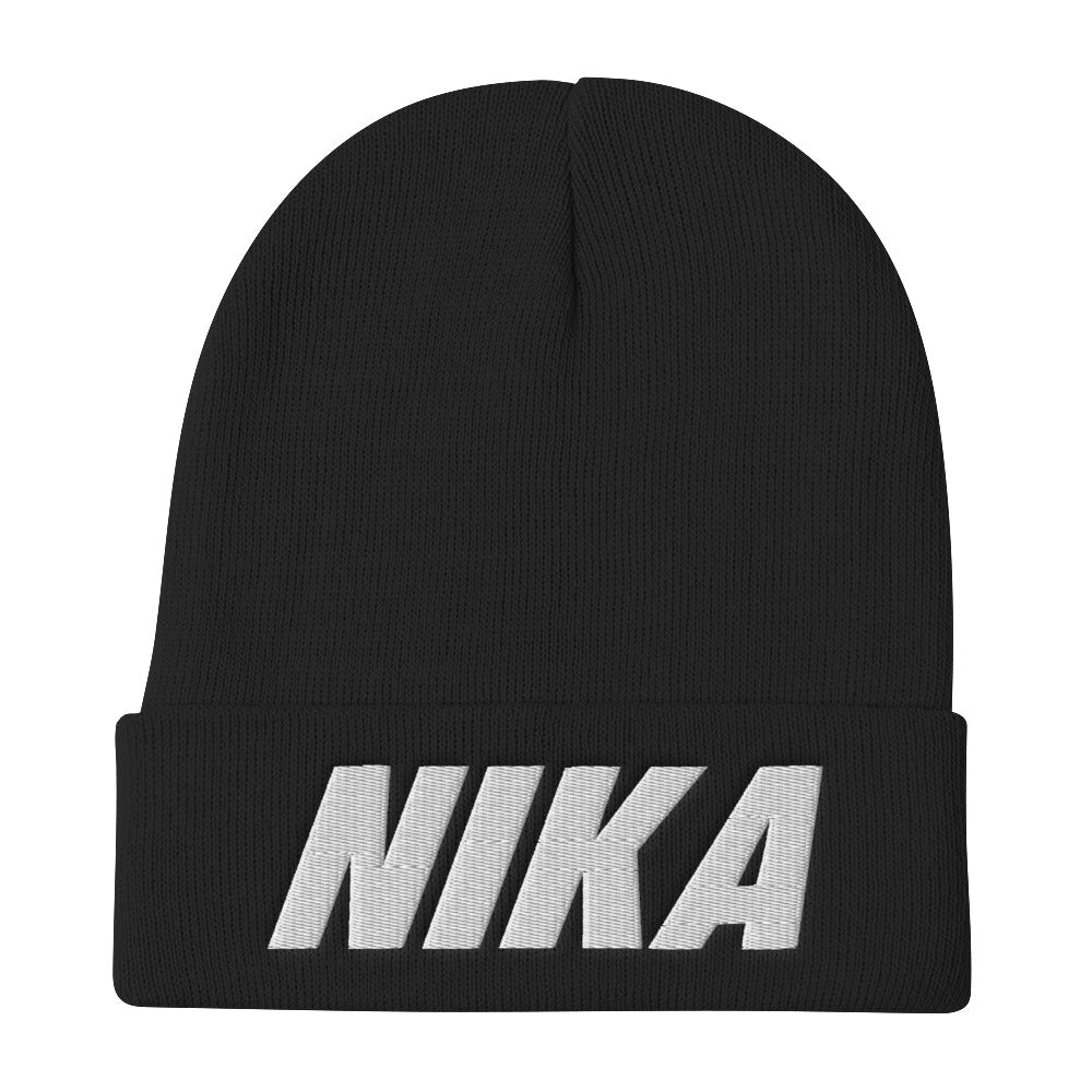Hella Pella NYC NIKA Embroidered Beanie