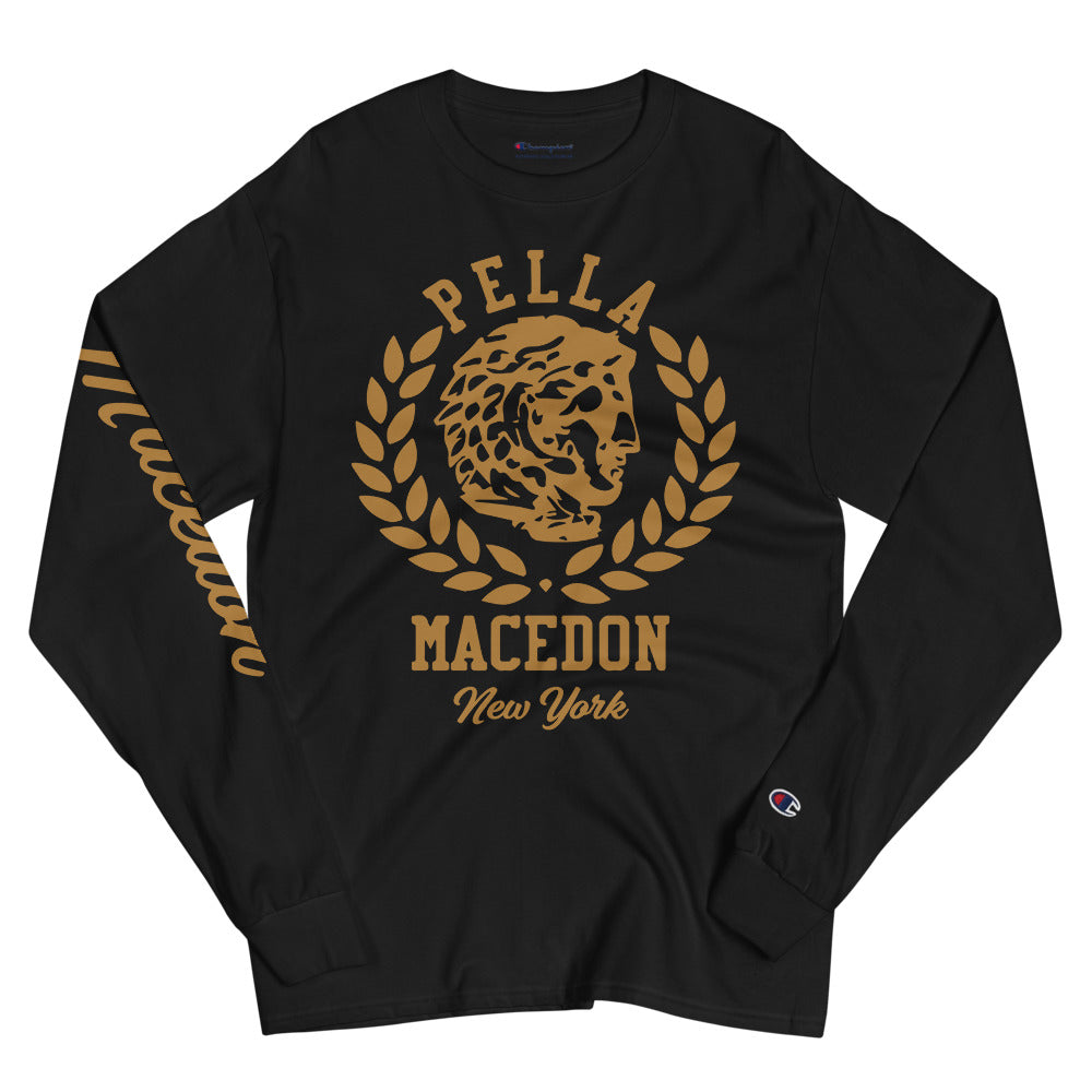 Pella NYC Bronze Macedon Men's Champion Long Sleeve Shirt