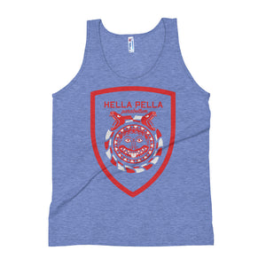 Hella Pella NYC Shield Parabellum Unisex Tri-Blend Tank Top