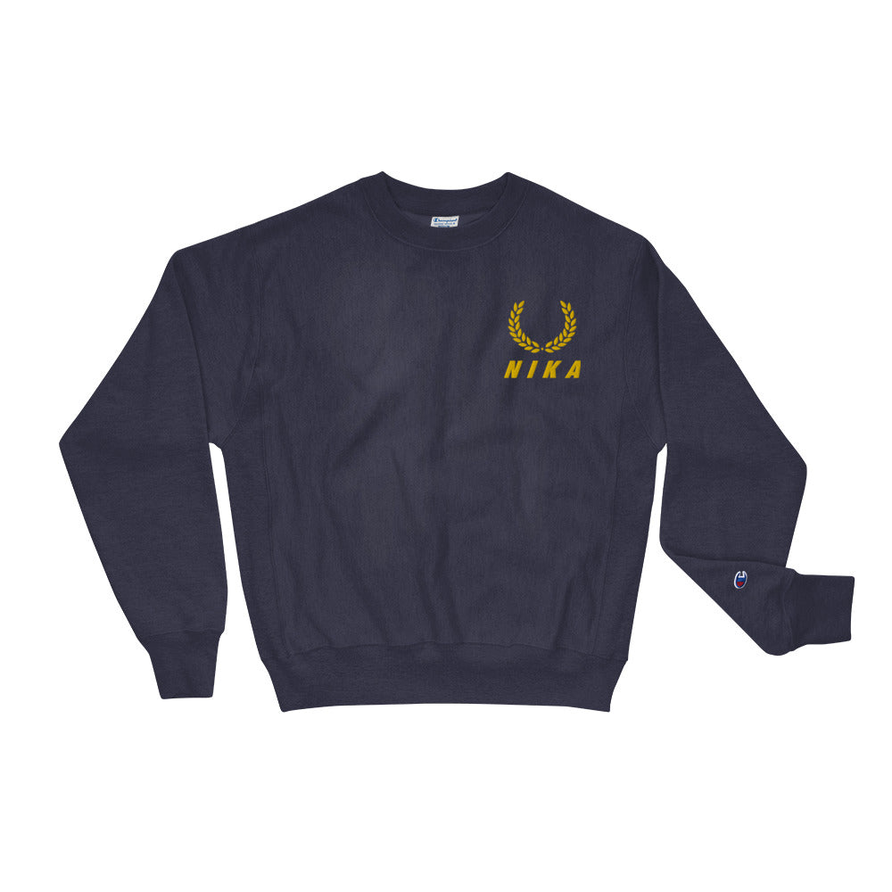 NYC NIKA Champion Embroidered Sweatshirt