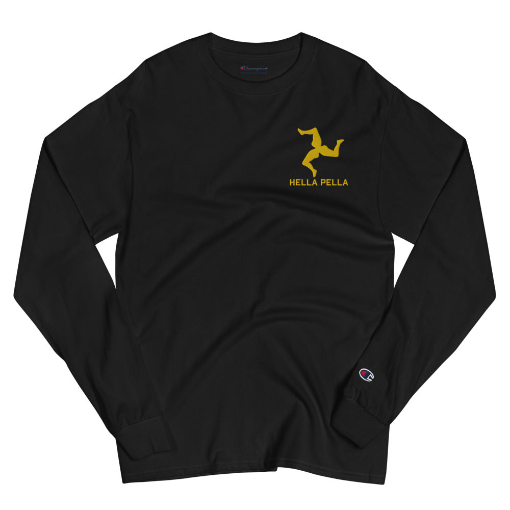 NYC Trinacria Embroidered Champion Long Sleeve