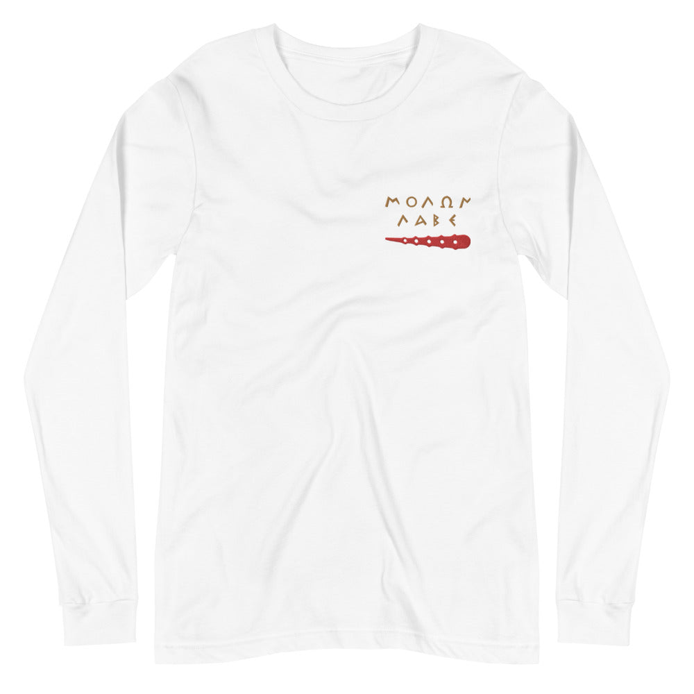 Pella NYC Hercules Amulet Embroidered Long Sleeve Tee
