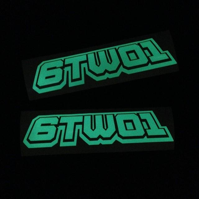 6TWO1 Track Invader Logo Decal Stickers (2pc)