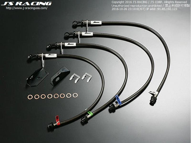 J'S RACING ZF1 CR-Z Brake Line System (Stainless fitting)