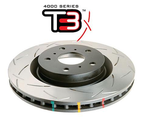 Rear 307mm DBA disc brake - 4000 series - T3 Slotted