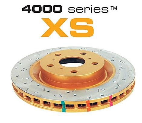 Rear 286mm DBA disc brake - 4000 series - XS (Premium Cross-Drilled & Slotted)