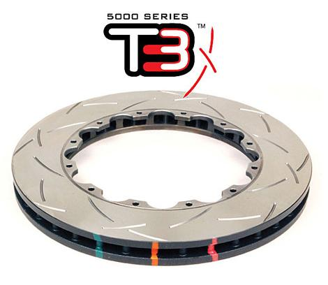 Rear DBA disc brake - 5000 series - Replacement Rotor Only - XS Cross-Drilled & Slotted (replacement NAS lock nuts included)