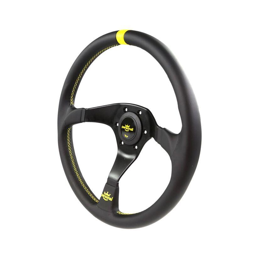 350MM PERSONAL TROPHY LEATHER STEERING WHEEL