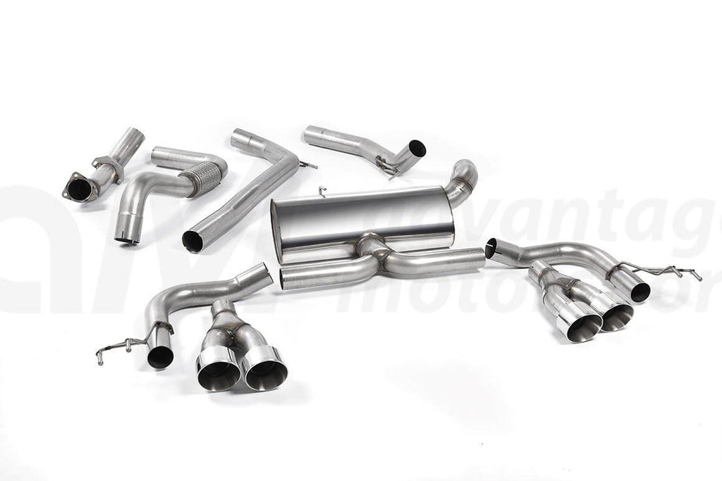 MILLTEK CAT BACK EXHAUST SYSTEM RACE ECE HONDA CIVIC TYPE R FK2 TITANIUM TIPS RHD