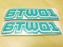 Load image into Gallery viewer, 6TWO1 Track Invader Logo Decal Stickers (2pc)