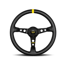 Load image into Gallery viewer, MOMO MOD.07 STEERING WHEEL - BLACK LEATHER 350MM