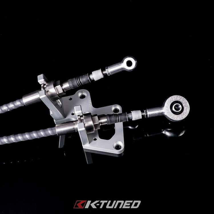 K-TUNED RACE SPEC SHIFTER CABLES AND TRANS BRACKET