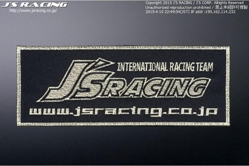 J's Racing Large Racing Emblem - Black